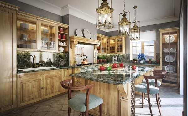 interior design ideas kitchen french cottage oak cabinetry