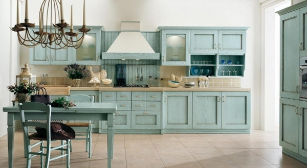 country house style interior design ideas blue vintage cabinets