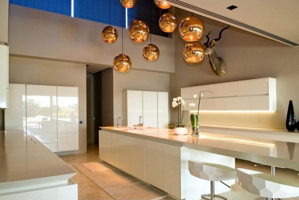 Interior design ideas modern cabinets pendant lights
