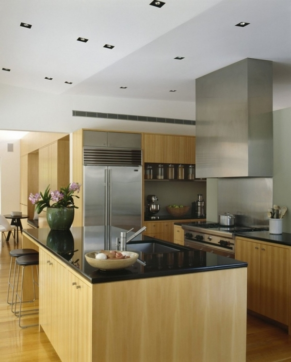 ideas for kitchen modern wooden furniture black worktop