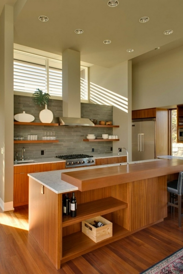 Interior design ideas kitchen cabinets wooden fronts cook island