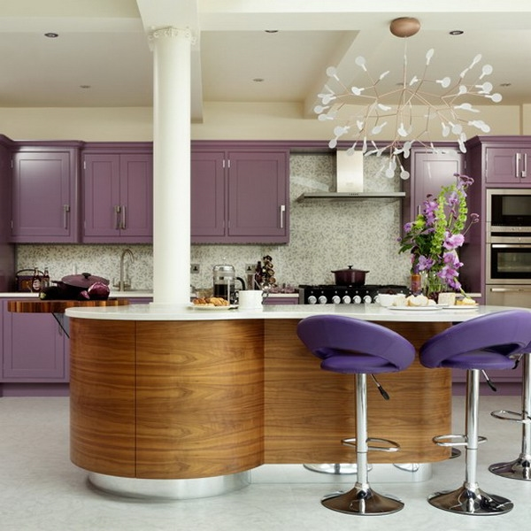 modern purple white design