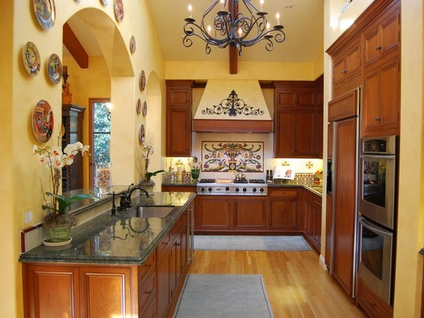 tuscany-kitchen-style wooden cabinet