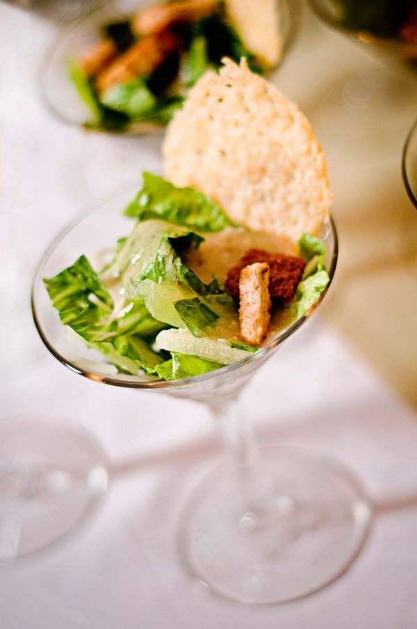 ceasar salad in martini glass elegant appetizers party food