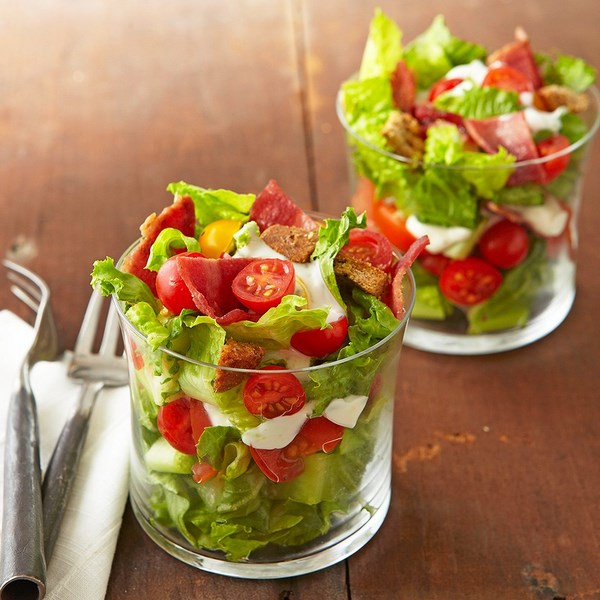 Low carb salad in a glass appetizer ideas and recipes