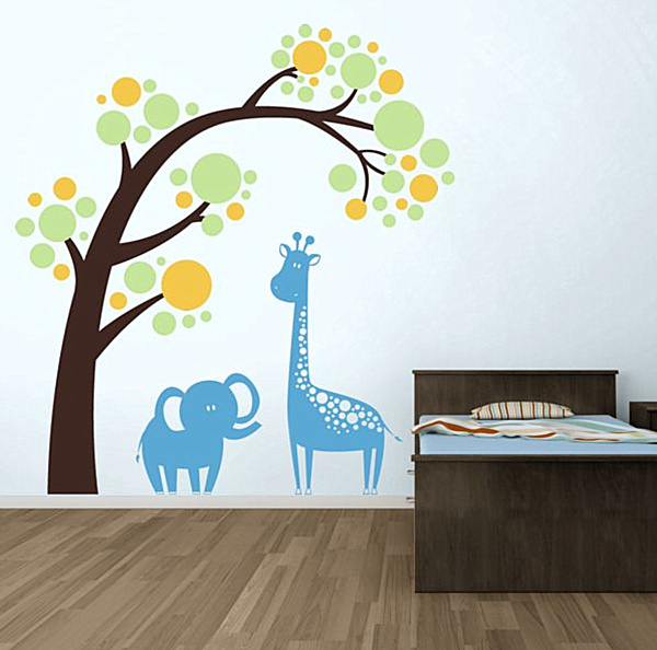 Sweet Nursery room Wall sticker Africa
