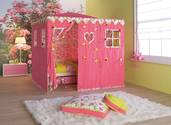 unique nursery girl tent roses