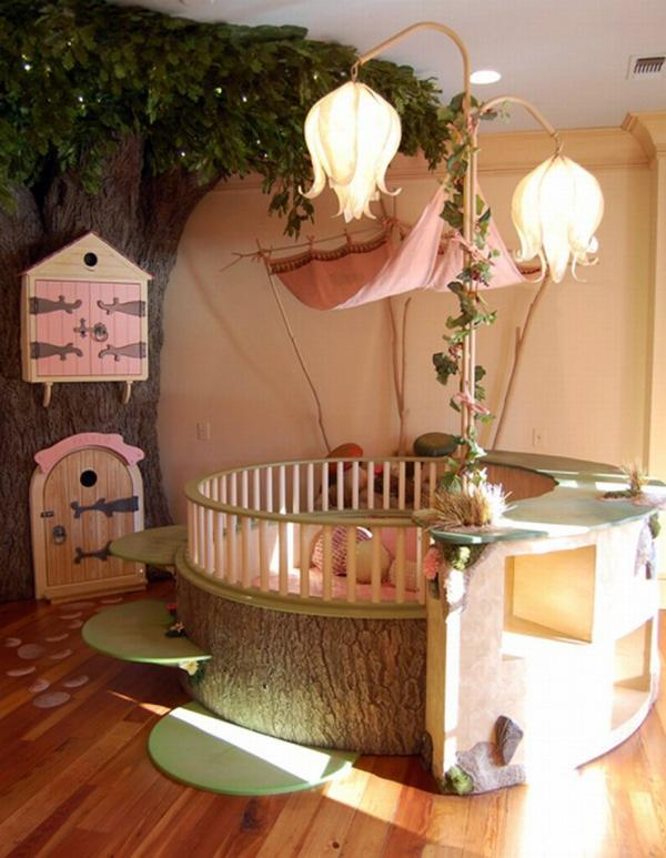 unique nursery room ideas creative tree fairies flowers lampshade
