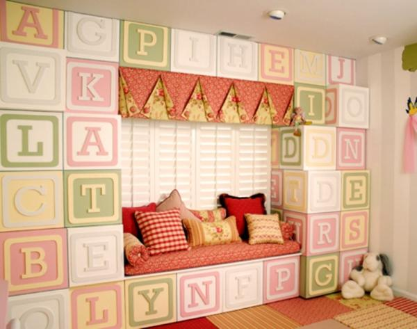 unique nursery room ideas reading corner wall design