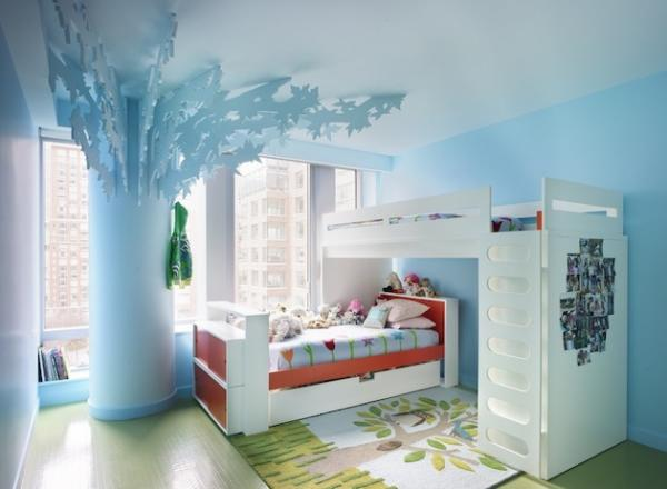 design column tree bunk beds