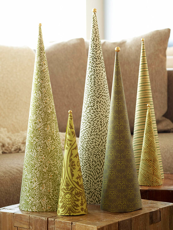 DIY decorating ideas quick craft tree table top trees
