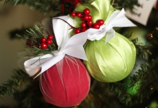 Easy crafts ideas wrapped tree ornament