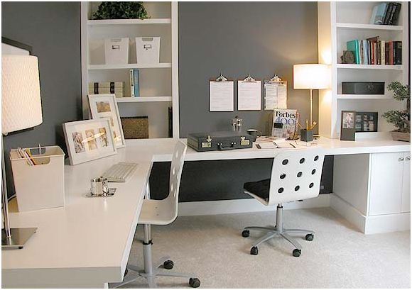 white office furniture white chairs home office design
