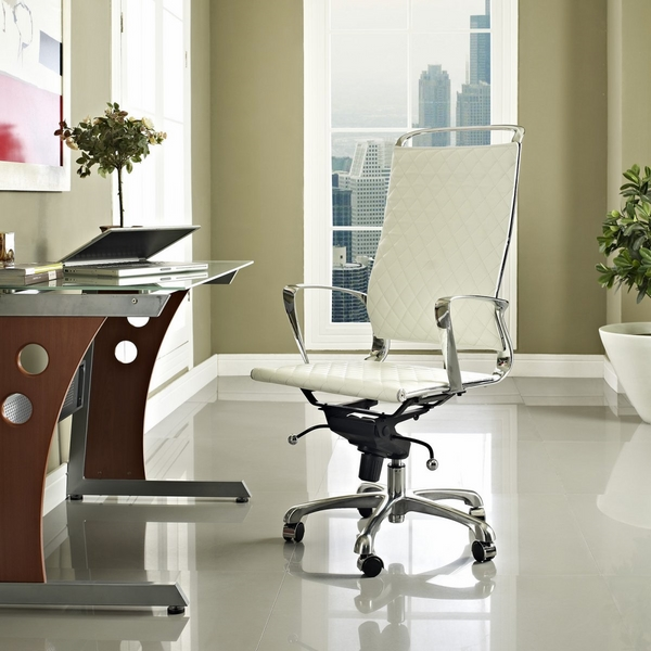 White high back office chairs ergonomic chairs modern office furniture