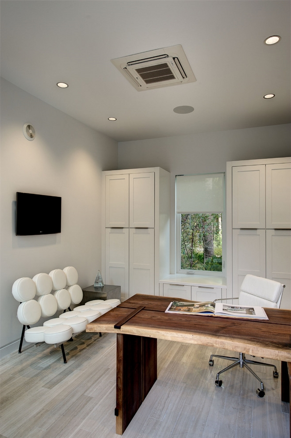contemporary office design white office chair modern white leather bench
