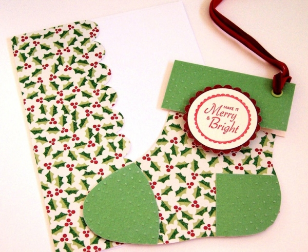 cheap christmas craft ideas stocking gift card holder