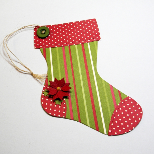 original-christmas-crafts-stocking-red-green-poinsettia-gift-holder