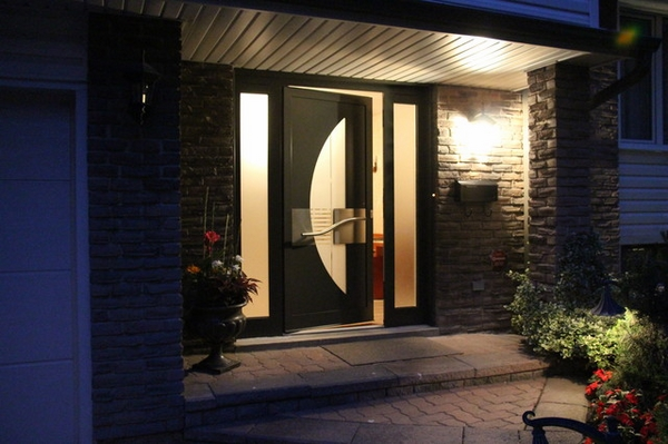 modern front doors wood glass contemporary house design