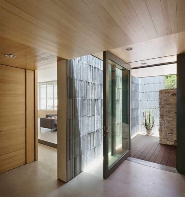 front door ideas glass metal contemporary house architecture