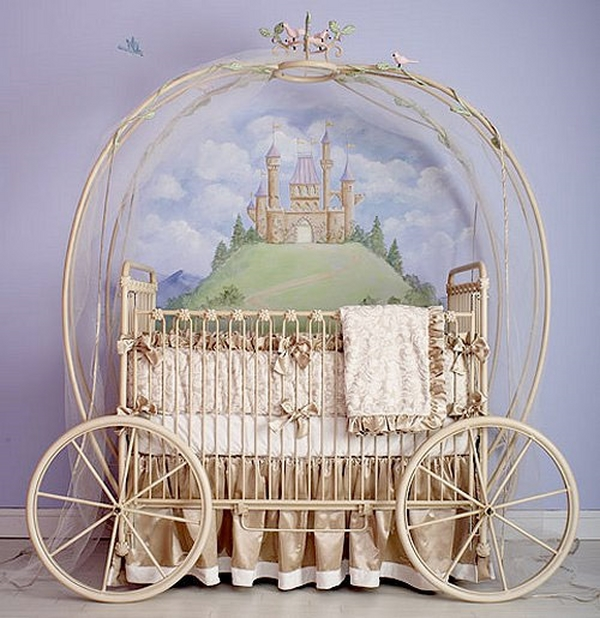 cot for girls fairytale nursery cinderella carriage