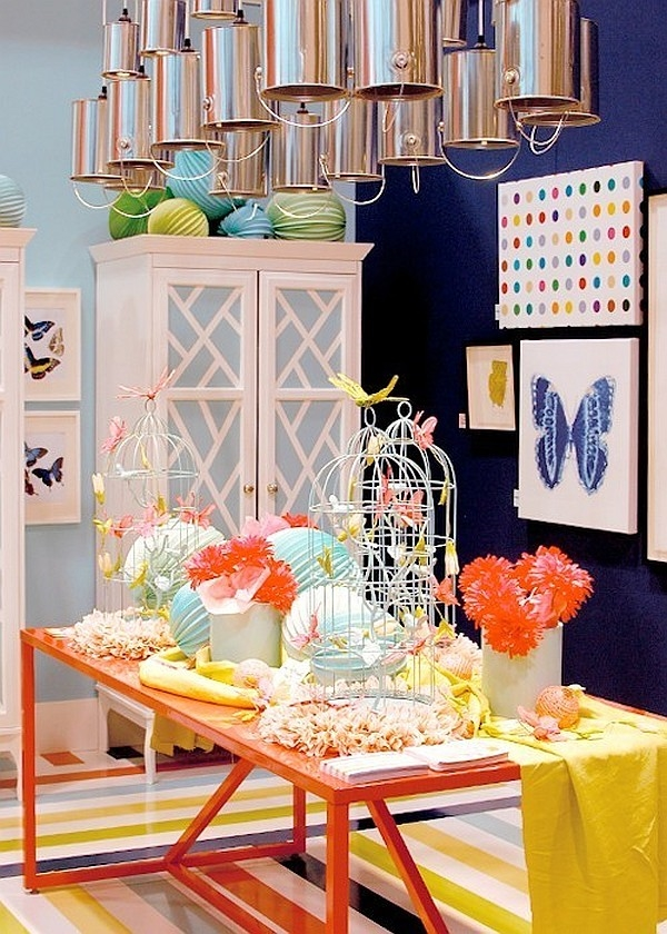 upcycling party decoration paint cans