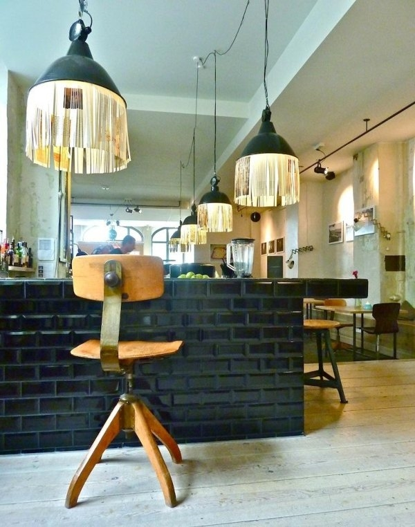 cool pendant lamps DIY ideas industrial style hanging lamps