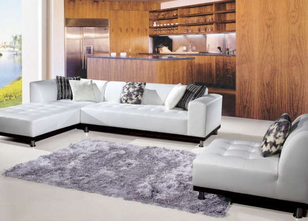 white leather sectional sofa contemporary living room furniture ideas