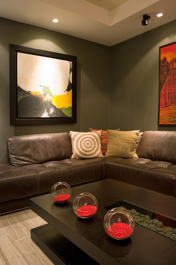 brown leathercontemporary living wall paintings