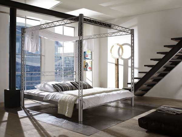 ultra modern indurstrial style bed