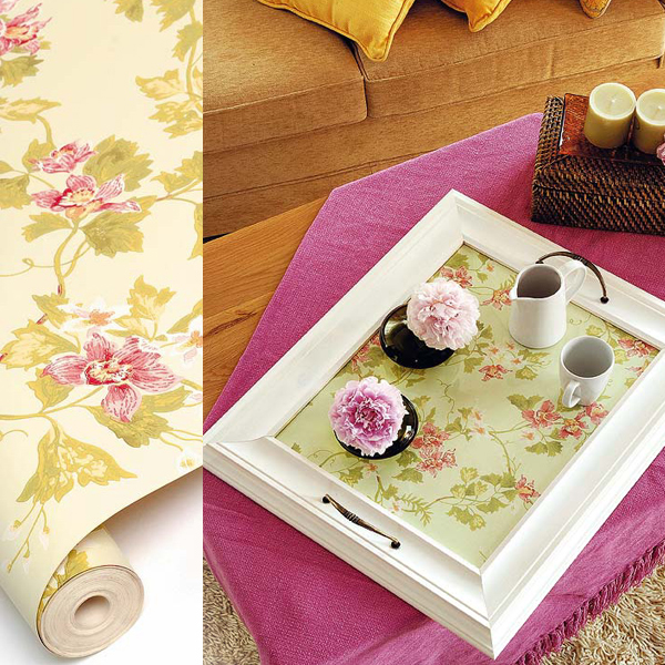 creative ideas for leftover wallpaper tray