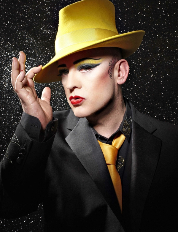 Boy George style Yellow Hat Halloween makeup tips fairing