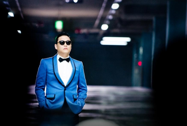 Psy style suit blue clothes for Halloween exclusive ideas