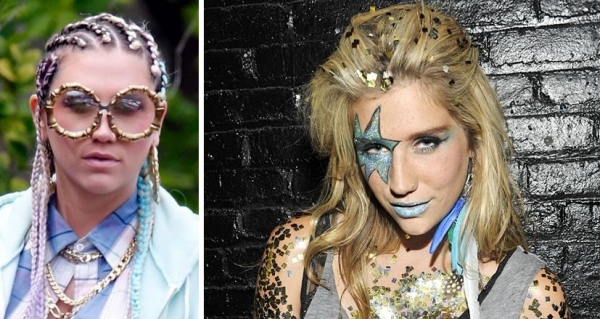 Halloween ideas hairstyle make-up accessories Inspiration Stars Kesha