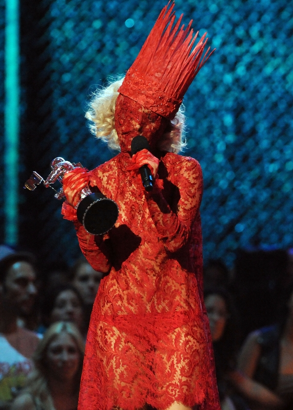 Lady Gaga stage show red Costume Ideas