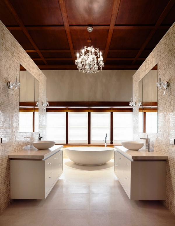 ceiling panels ideas contemporary bathroom