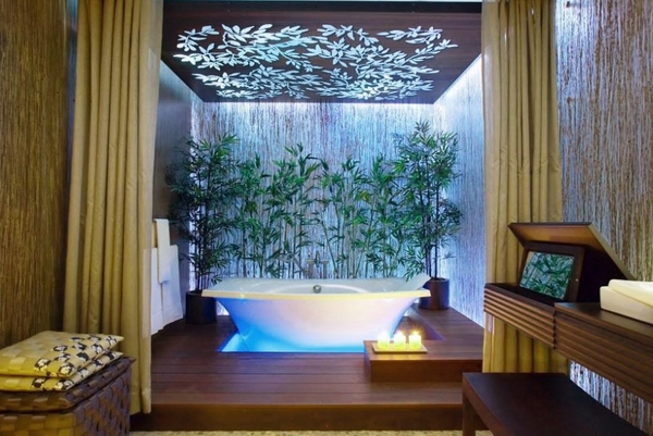 bathroom bamboo decor