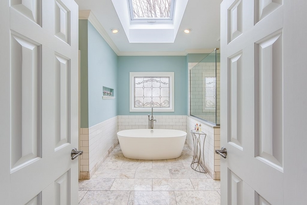 bathroom ceiling design ideas master bathroom skylight