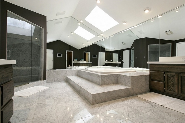 Magnificent bathrooms skylights lighting