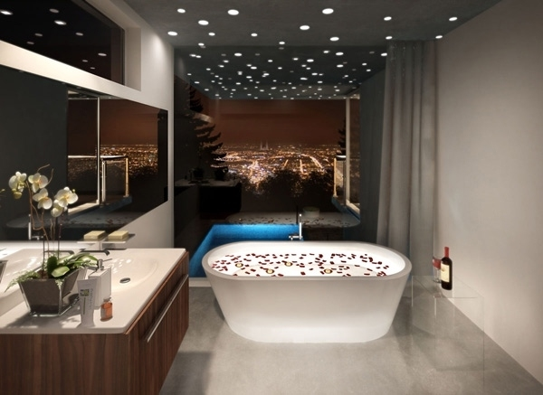 stretch-ceiling-recessed-lighting-bathtub