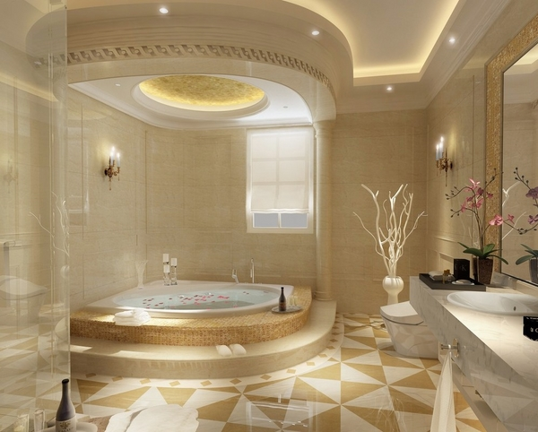 overhead-bathroom-lighting-ides-elegant-bathroom