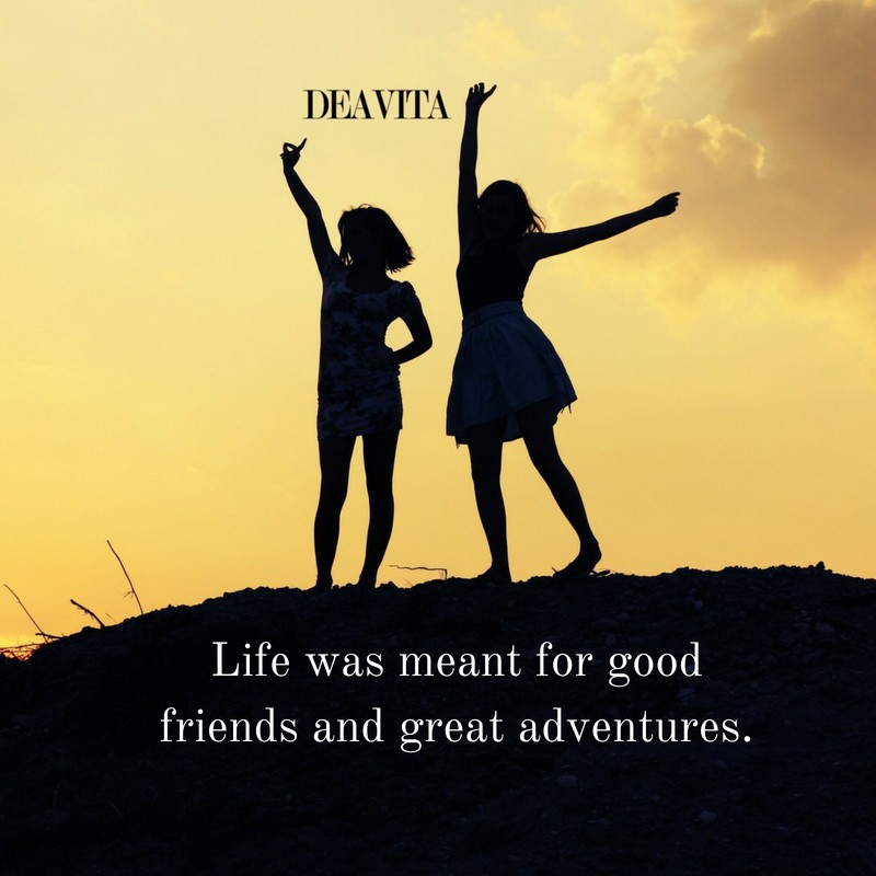 Life friends and adventure quotes with photos