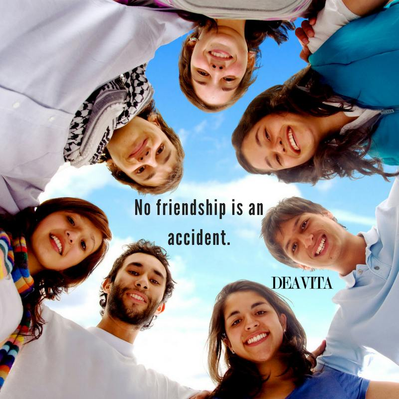 best short quotes about friendship No friendship is an accident