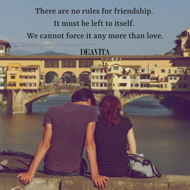 best inspirational short quotes There are no rules for friendship