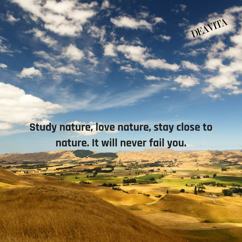 Study nature love nature great short quotes