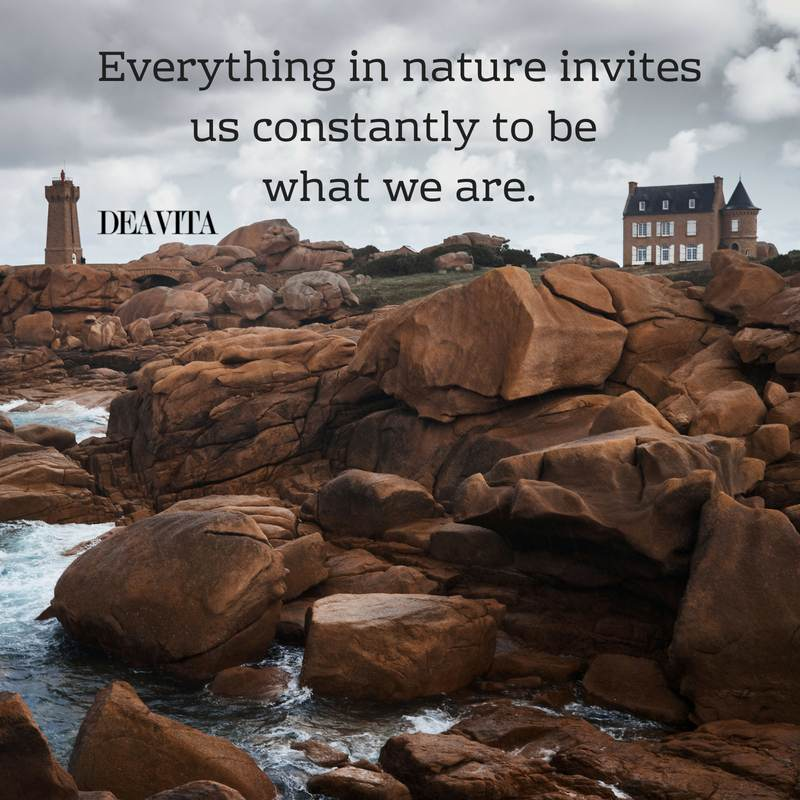 nature and be yourself short quotes