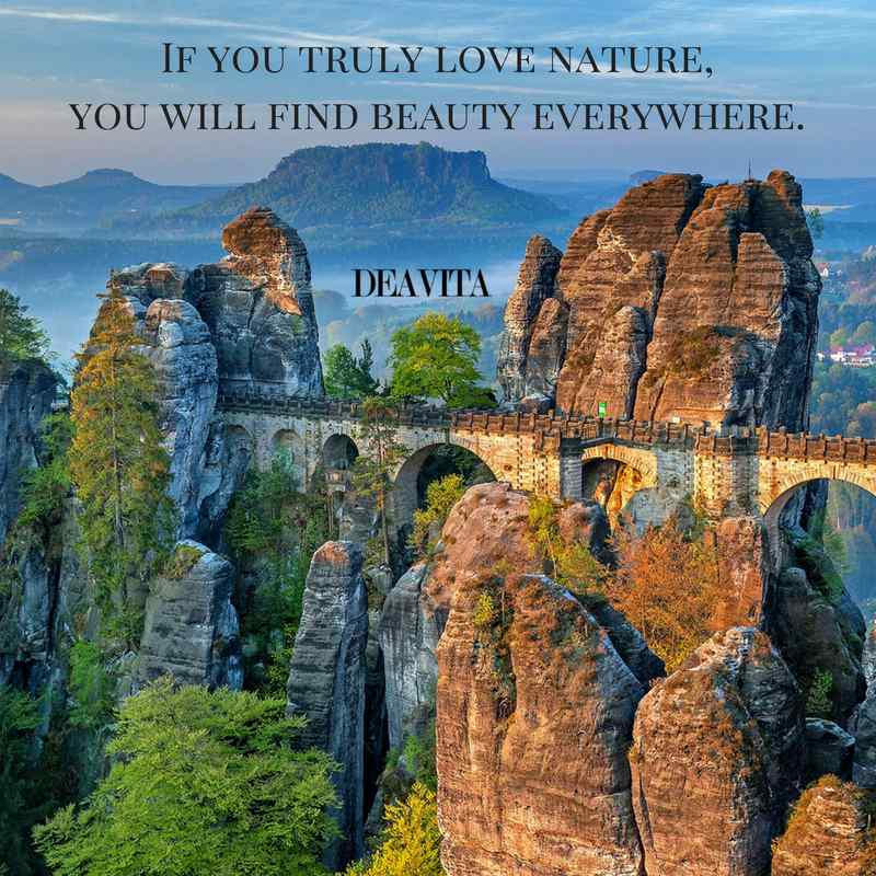 love nature and beauty quotes with fantastic photos