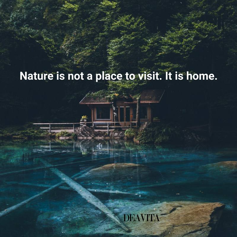 deep quotes natrure is home