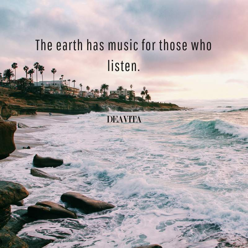 best deep quotes The earth has music for those who listen