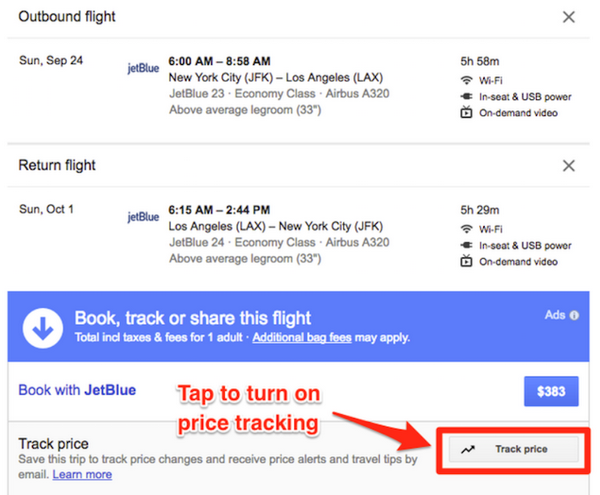 price up down alert cheap plane tickets with google application