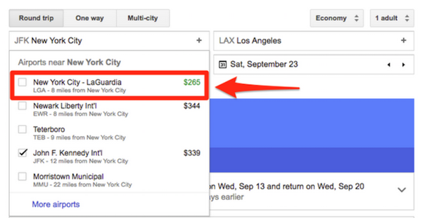 google flight application to buy cheap plane tickets choose airports